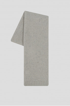 Женский светло-серый кашемировый шарф