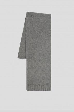 Женский серый кашемировый шарф