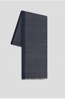 Женский синий кашемировый шарф