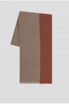 Женский бежевый кашемировый шарф