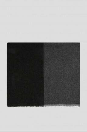 Мужской серый кашемировый шарф 1