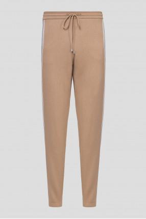 Мужские светло-коричневые кашемировые брюки