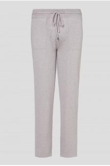 Мужские бежевые кашемировые брюки