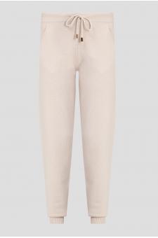 Женские бежевые кашемировые брюки