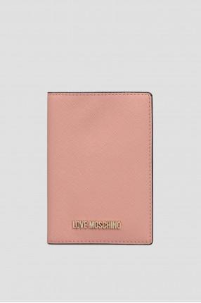 Женская розовая обложка для документов
