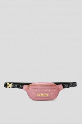 Женская розовая поясная сумка