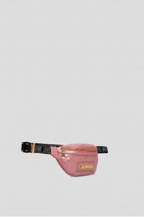 Женская розовая поясная сумка 1