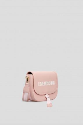 Женская розовая сумка через плечо 1