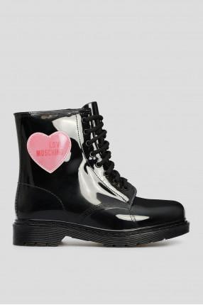 Женские черные ботинки