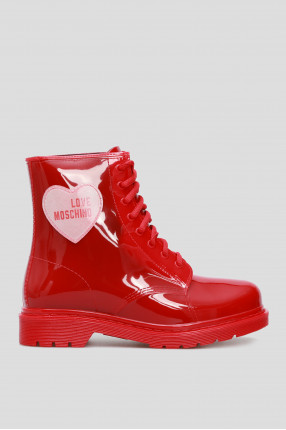 Женские красные ботинки