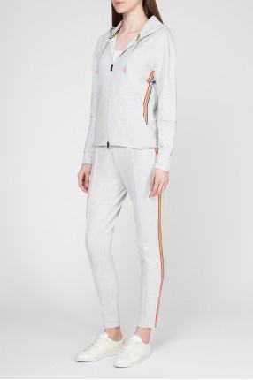 Женский серый спортивный костюм 1