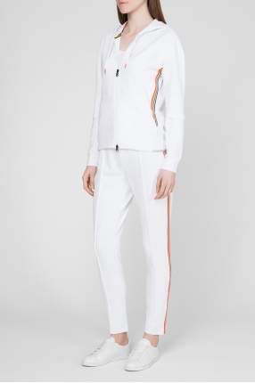 Женский белый спортивный костюм 1