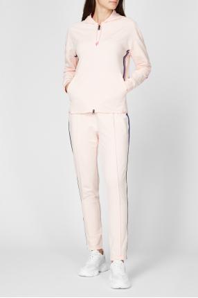 Женский пудровый спортивный костюм (худи, брюки) 1