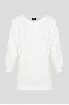Женский белый свитшот