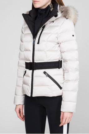 Женский белый лыжный пуховик 1