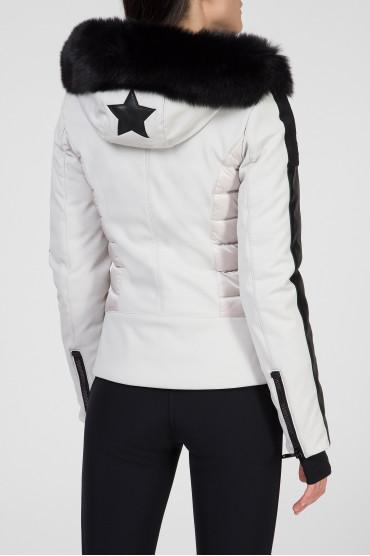 Женская светло-серая лыжная куртка 3