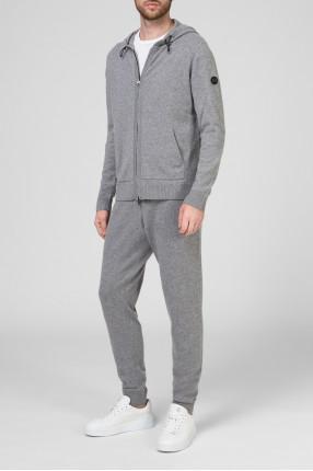 Мужской серый шерстяной костюм (худи, брюки) 1