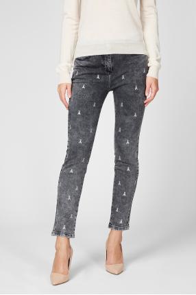 Женские темно-серые джинсы 1