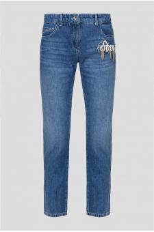 Женские синие джинсы Cigarette