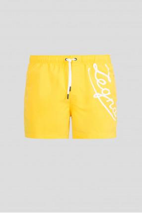 Мужские желтые плавательные шорты