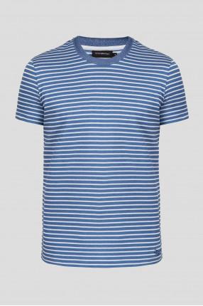 Мужская голубая футболка