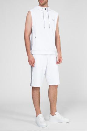 Мужской белый спортивный костюм (футболка, шорты) 1