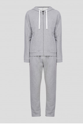 Мужской серый спортивный костюм (худи, брюки)