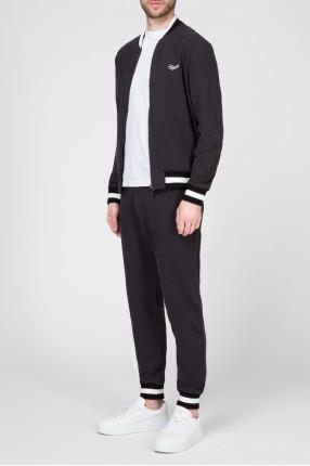 Мужской черный спортивный костюм (бомбер, брюки) 1