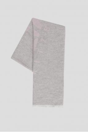 Женский светло-серый шерстяной шарф