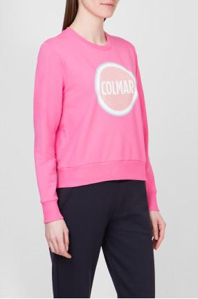 Женский розовый свитшот 1