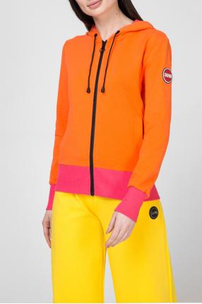 Женское оранжевое худи 1