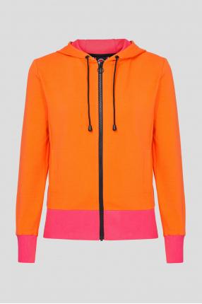Женское оранжевое худи