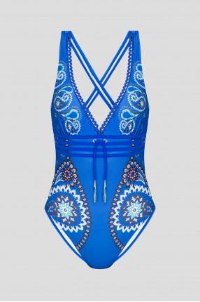 Женский синий купальник