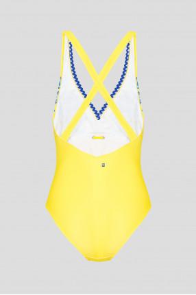Женский желтый купальник 1