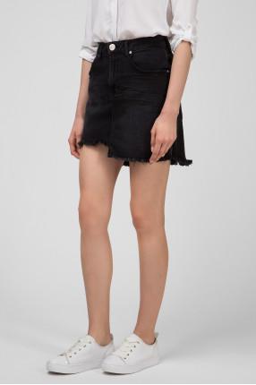 Женская черная джинсовая юбка BLACK SWAN 1