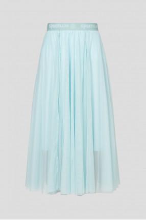 Женская голубая юбка