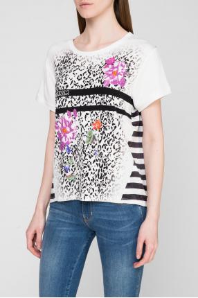 Женская футболка с узором 1