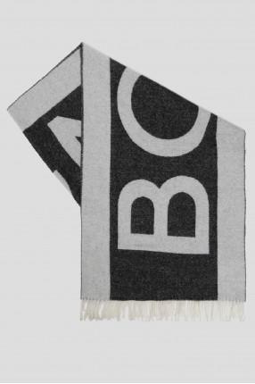 Мужской темно-серый шерстяной шарф
