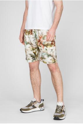 Мужские белые шорты с принтом 1