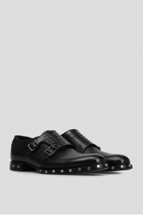 Женские черные кожаные монки 1