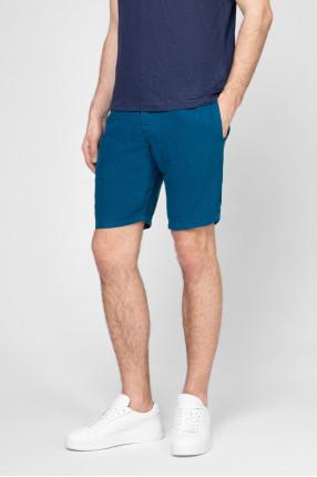 Мужские синие льняные шорты 1