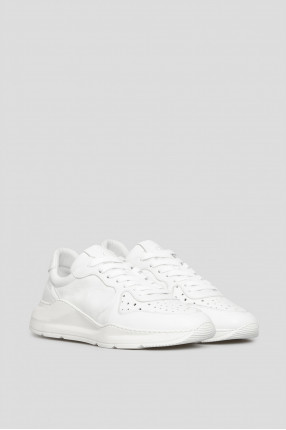 Мужские белые кожаные кроссовки 1