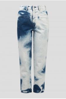 Женские голубые джинсы PEDAL PUSHER