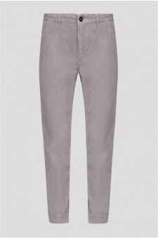 Женские сиреневые вельветовые брюки