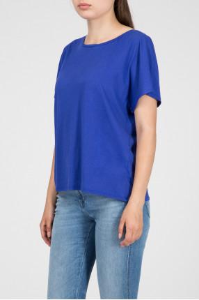 Женская синяя футболка 1