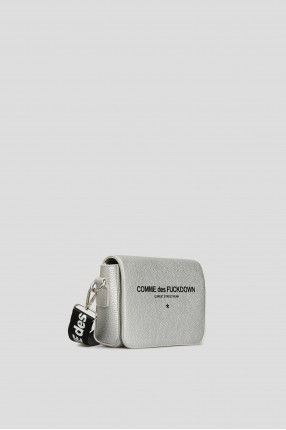 Женская серебристая сумка через плечо 1
