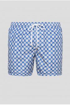 Мужские синие плавательные шорты