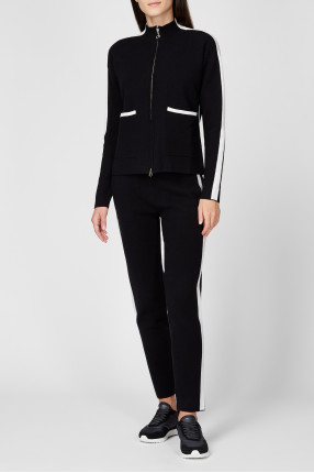 Женский черный спортивный костюм (кофта, брюки) 1