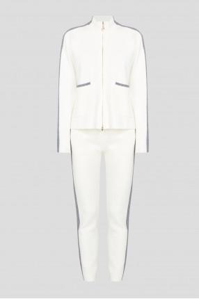 Женский белый спортивный костюм (кофта, брюки)