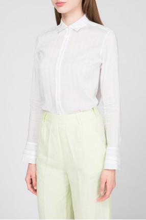 Женская белая блуза в полоску 1